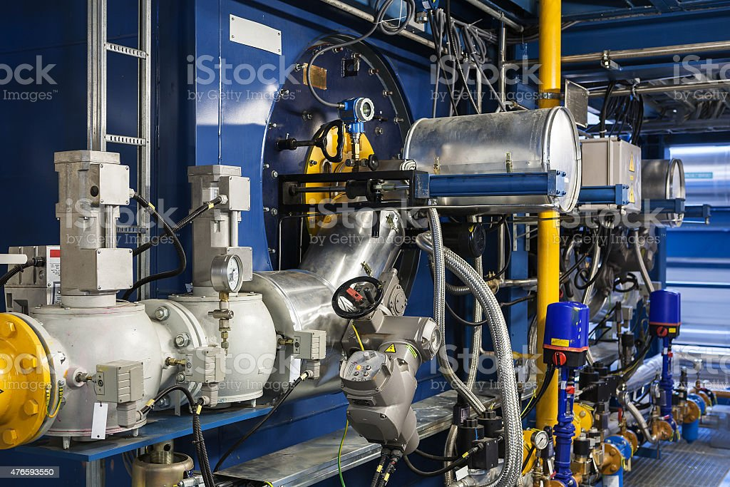 High power boiler burner stock photo