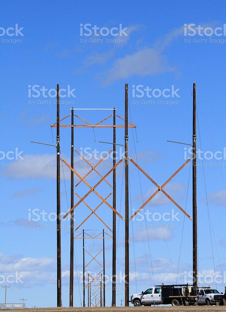 High Power Line stock photo