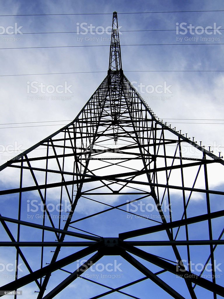high power line royalty-free stock photo