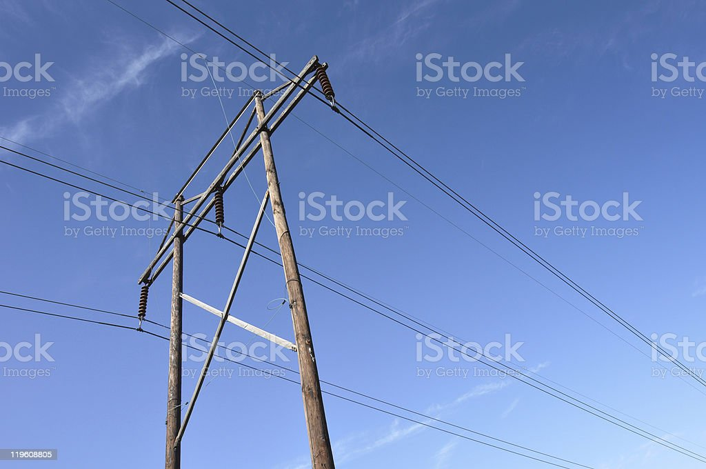 High Power Lines.JPG stock photo