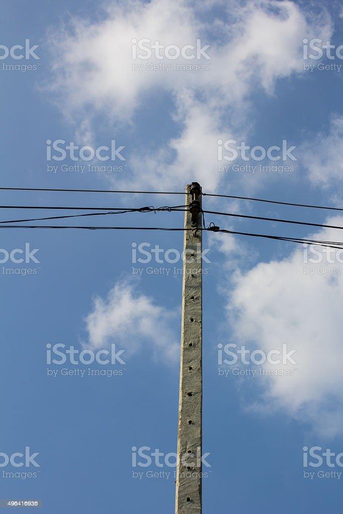 High power pole stock photo
