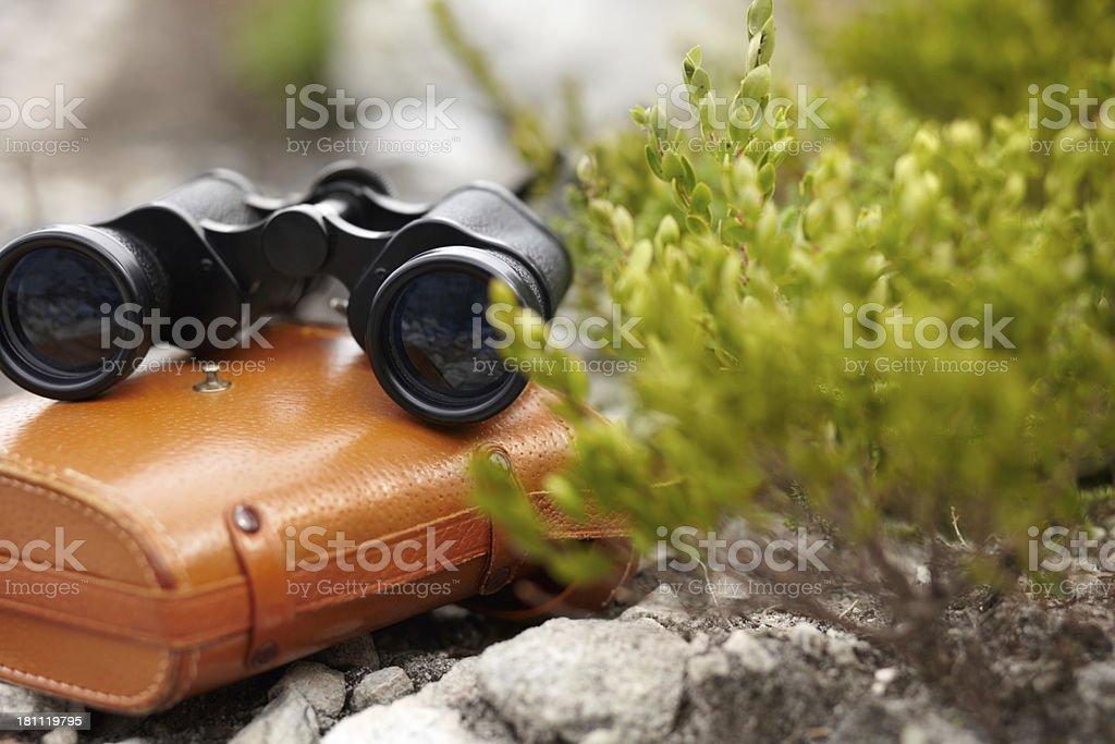 High powered binoculars royalty-free stock photo