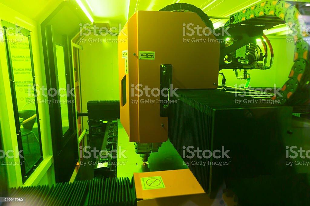 High precision CNC laser stock photo