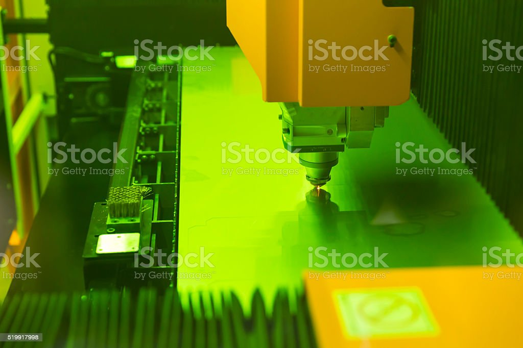 High precision CNC laser stock photo