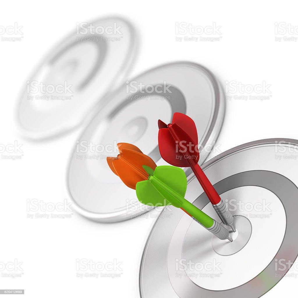 High Precision Concept Image stock photo