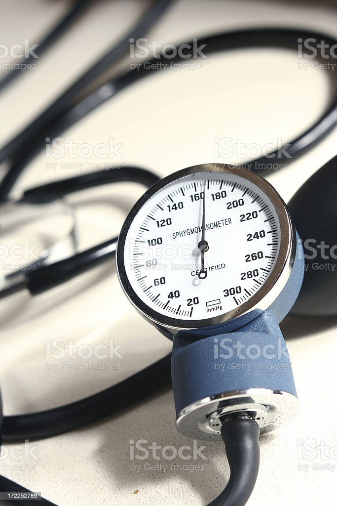 High pressure! 170 mmHg stock photo