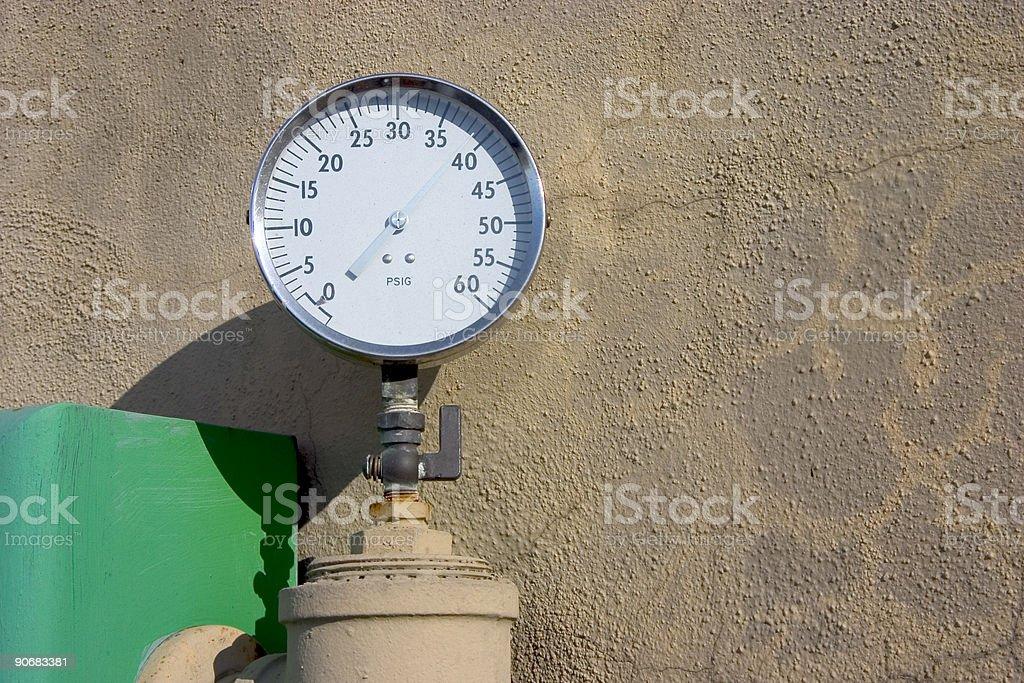High Pressure Gauge stock photo