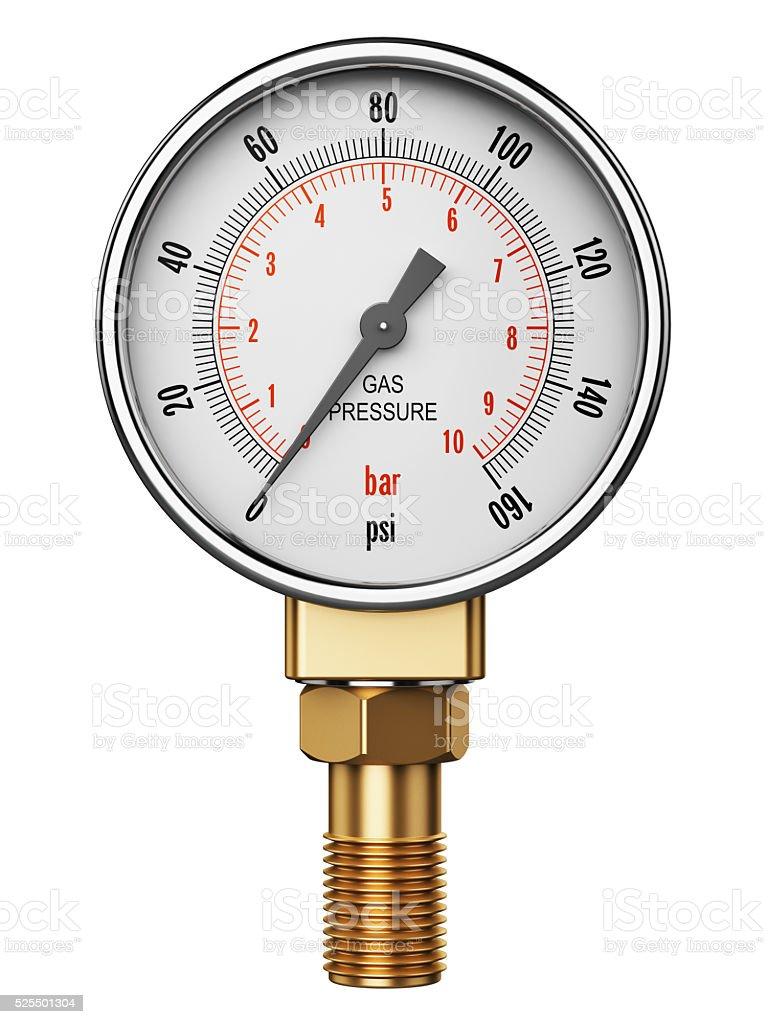 High pressure industrial gas gauge meter or manometer stock photo