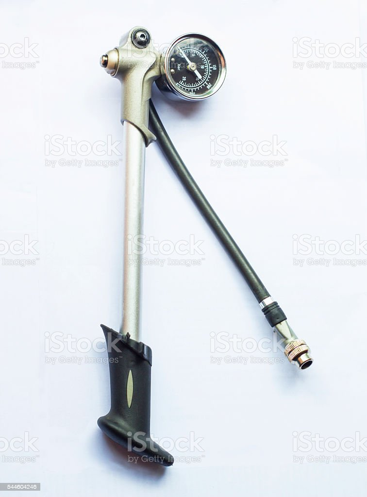 High pressure pump for bicycle tool stock photo