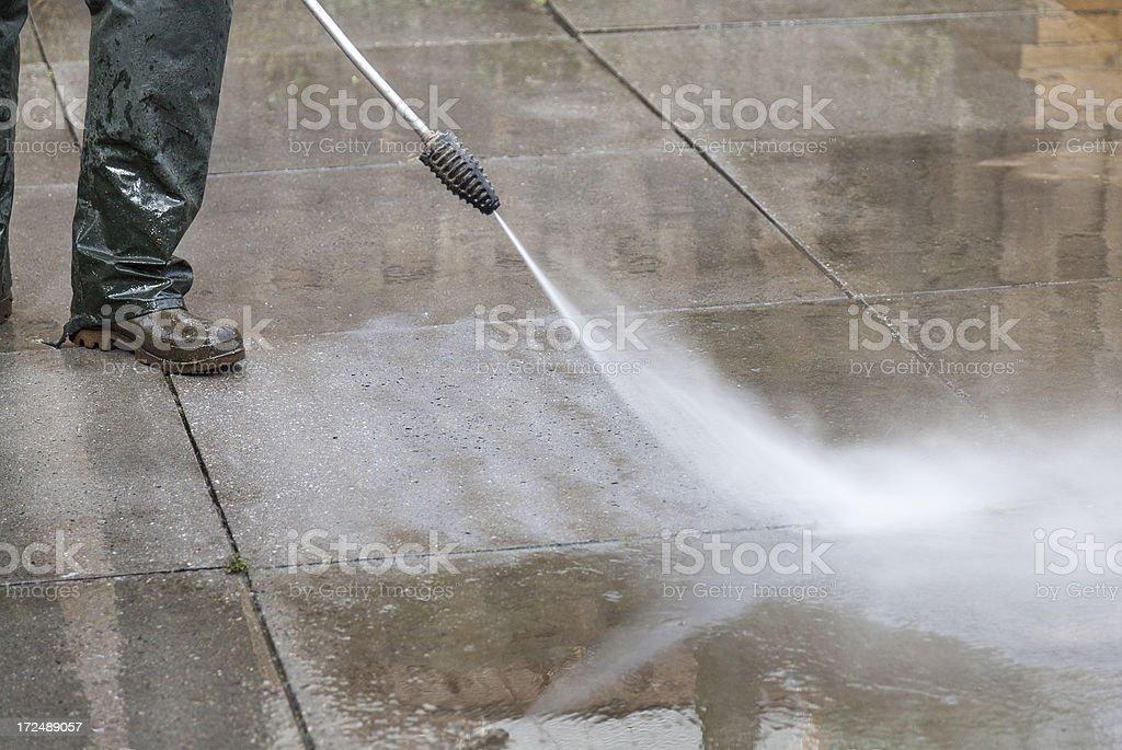 High Pressure Washing royalty-free stock photo