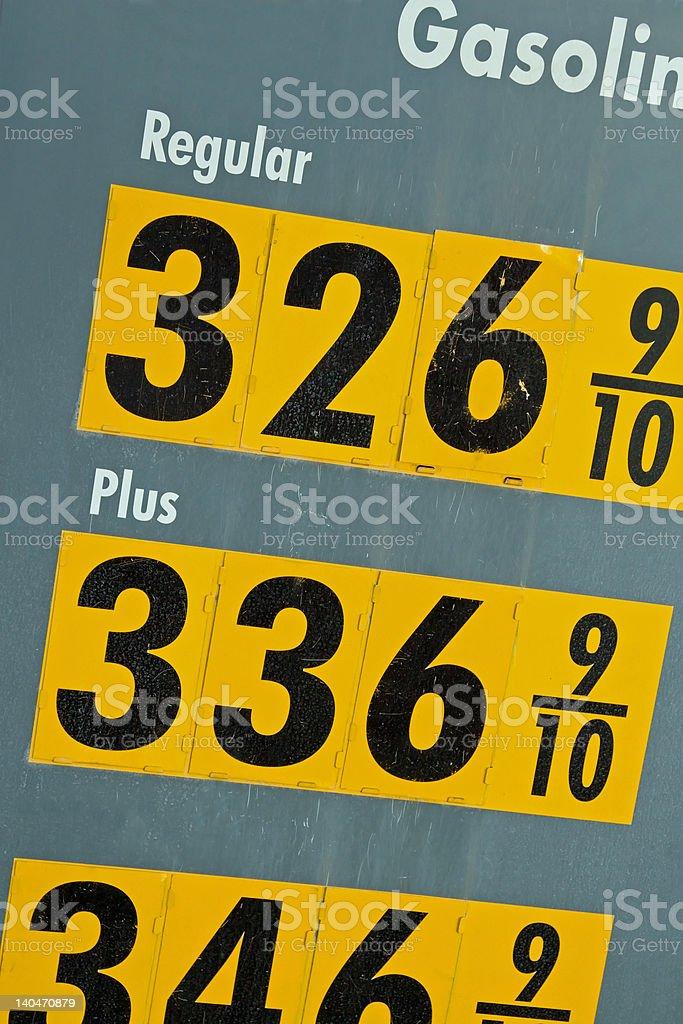 High Price of Gasoline stock photo