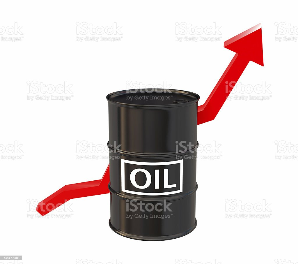 High Price of oil royalty-free stock photo