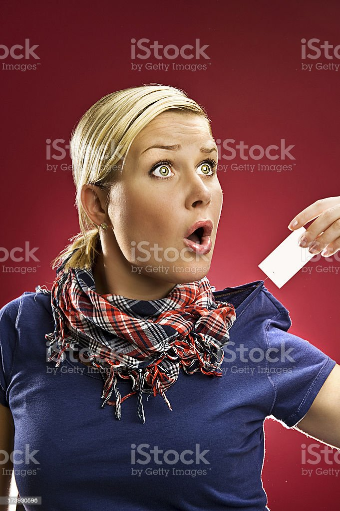 High price tag royalty-free stock photo