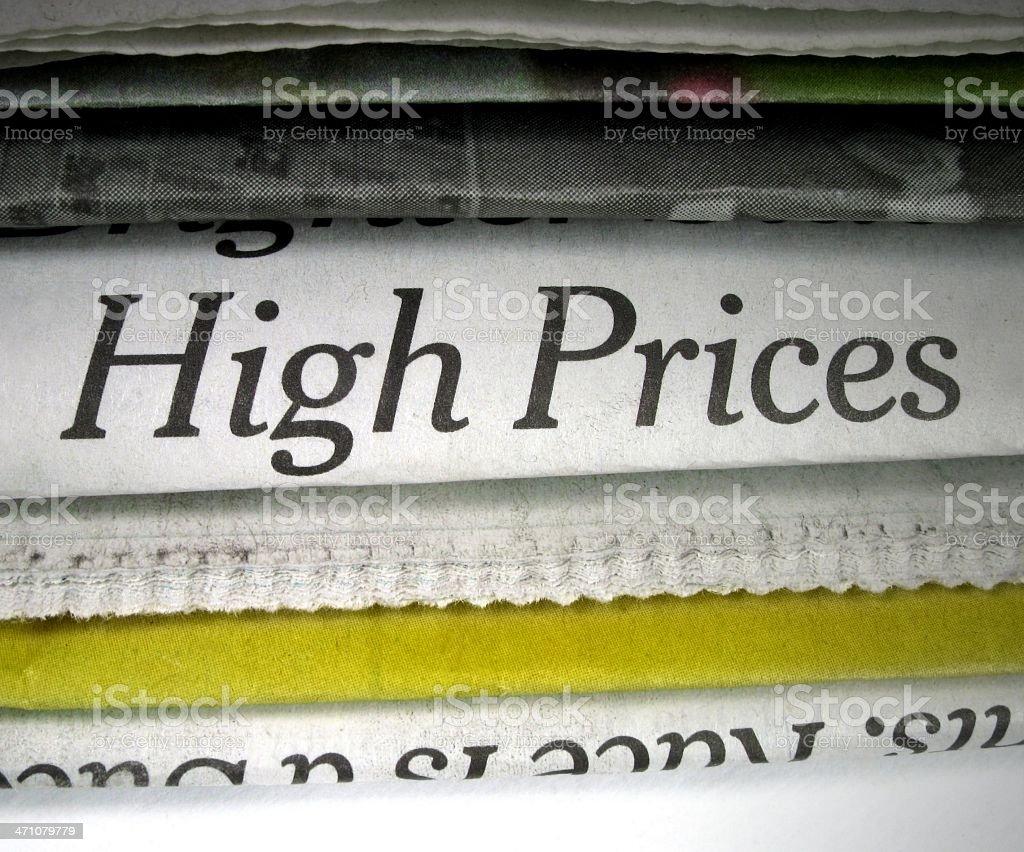High Prices stock photo