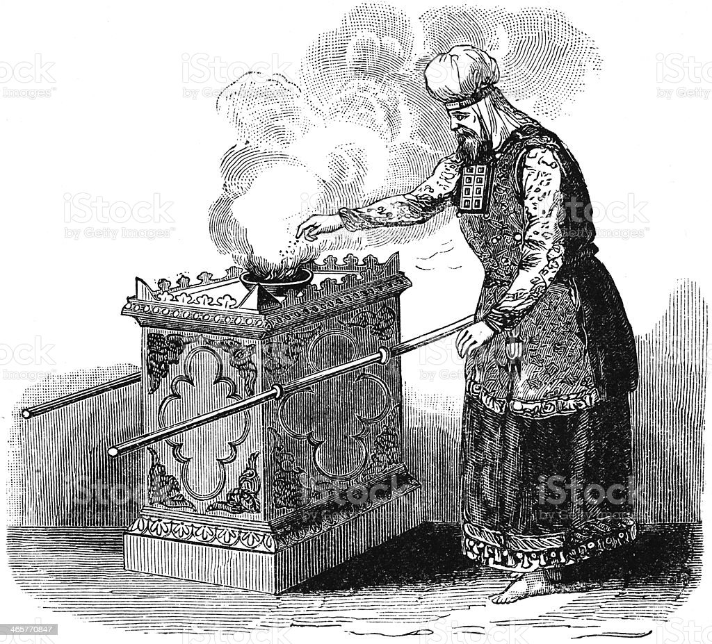 High Priest Burning Incense royalty-free stock photo