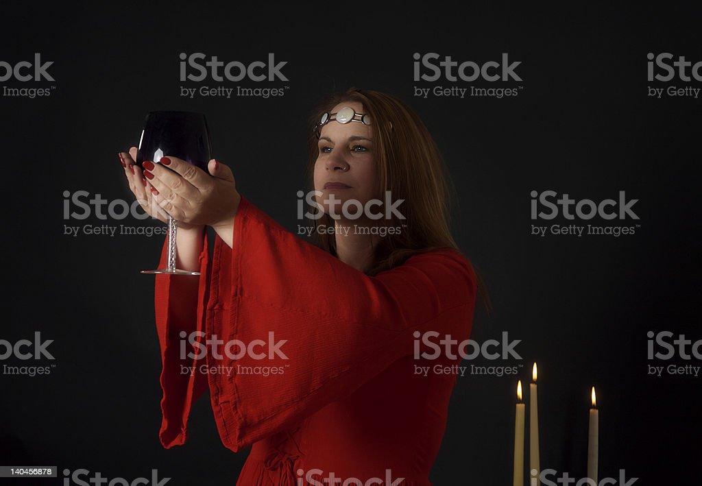 High Priestess stock photo
