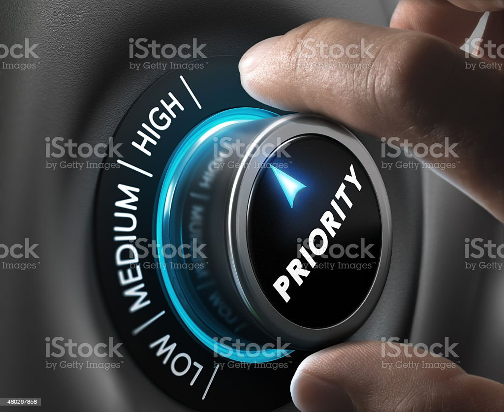 High Priority stock photo