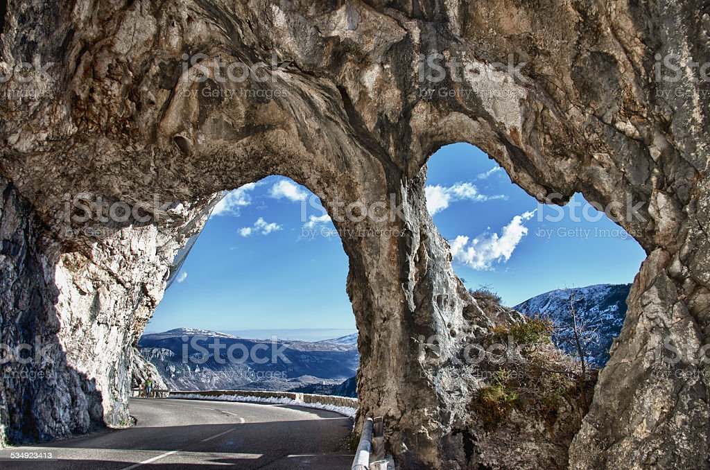 high provence mountain road in france stock photo