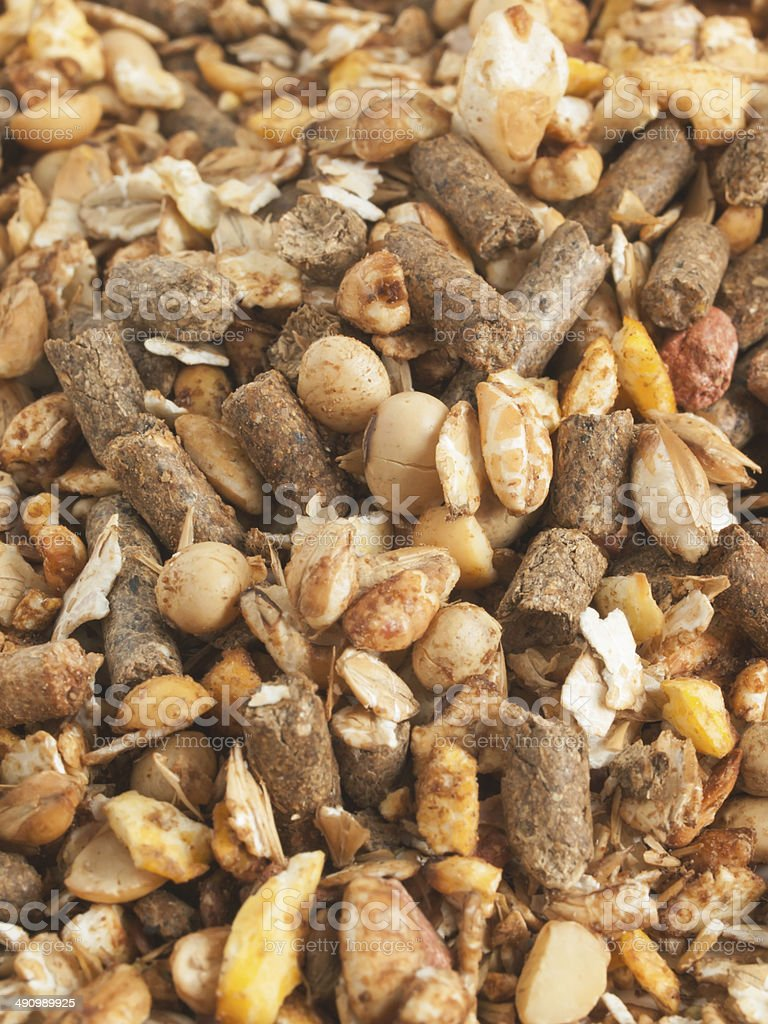 high quality natural sportive  muesli background. for horse. close up royalty-free stock photo