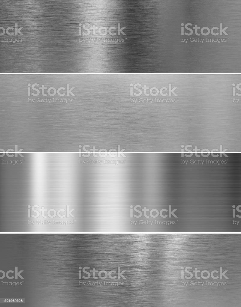 high quality silver steel metal texture backgrounds stock photo