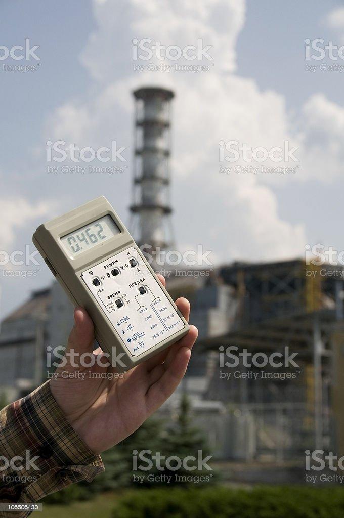 High radiation level stock photo