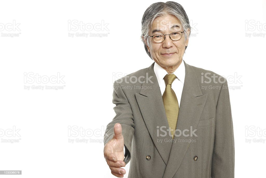 High ranking executive making the initiative royalty-free stock photo