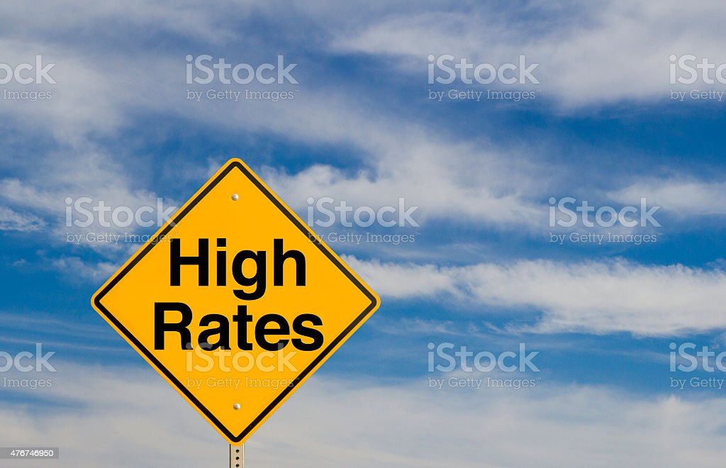 High Rates stock photo