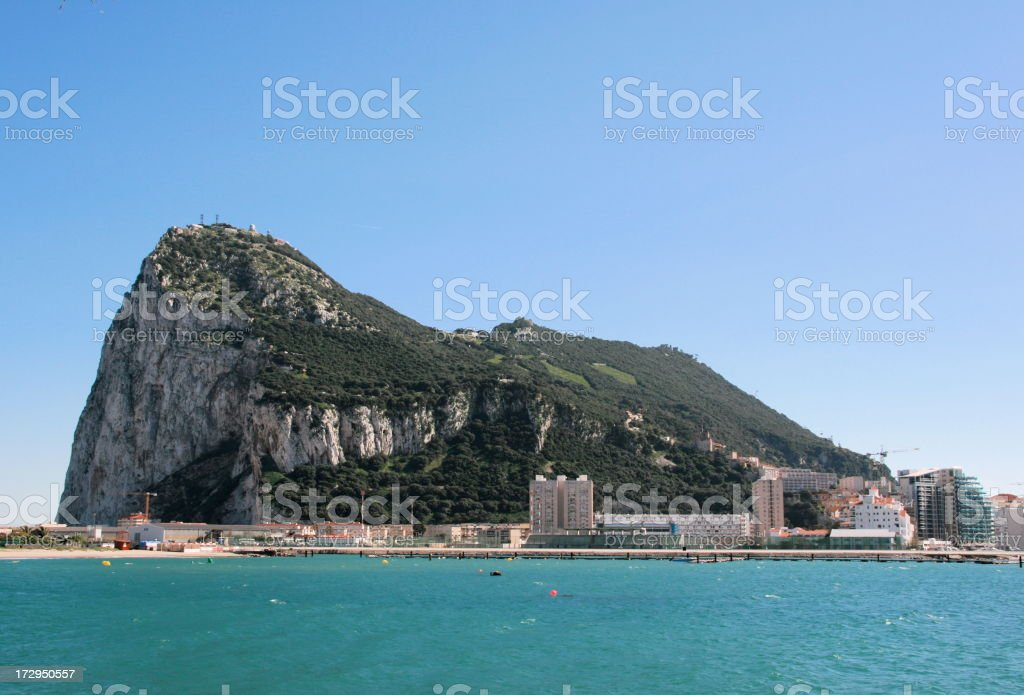 High res photo of Gibraltar on a sunny day stock photo