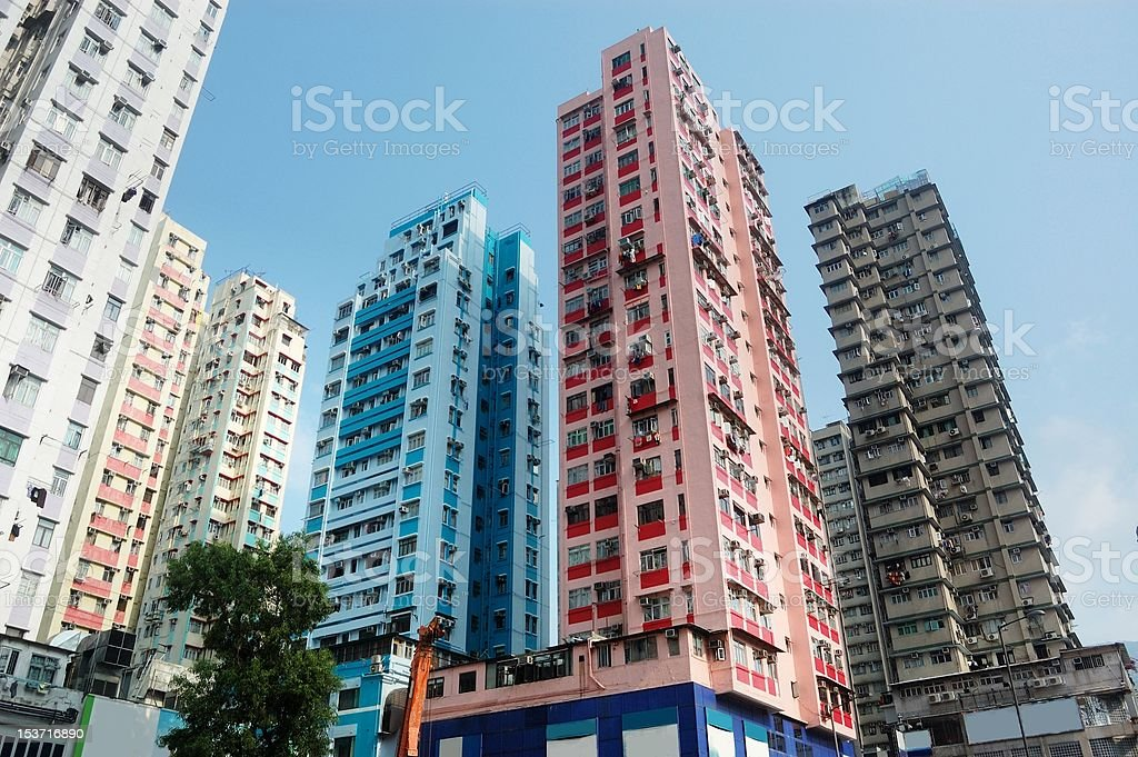High residential buildings stock photo
