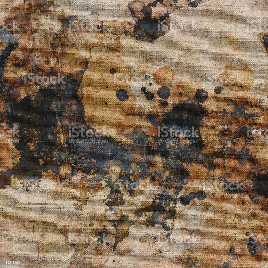 High Resolution Abstract Acrylic Painting on Primed Linen Canvas royalty-free stock photo