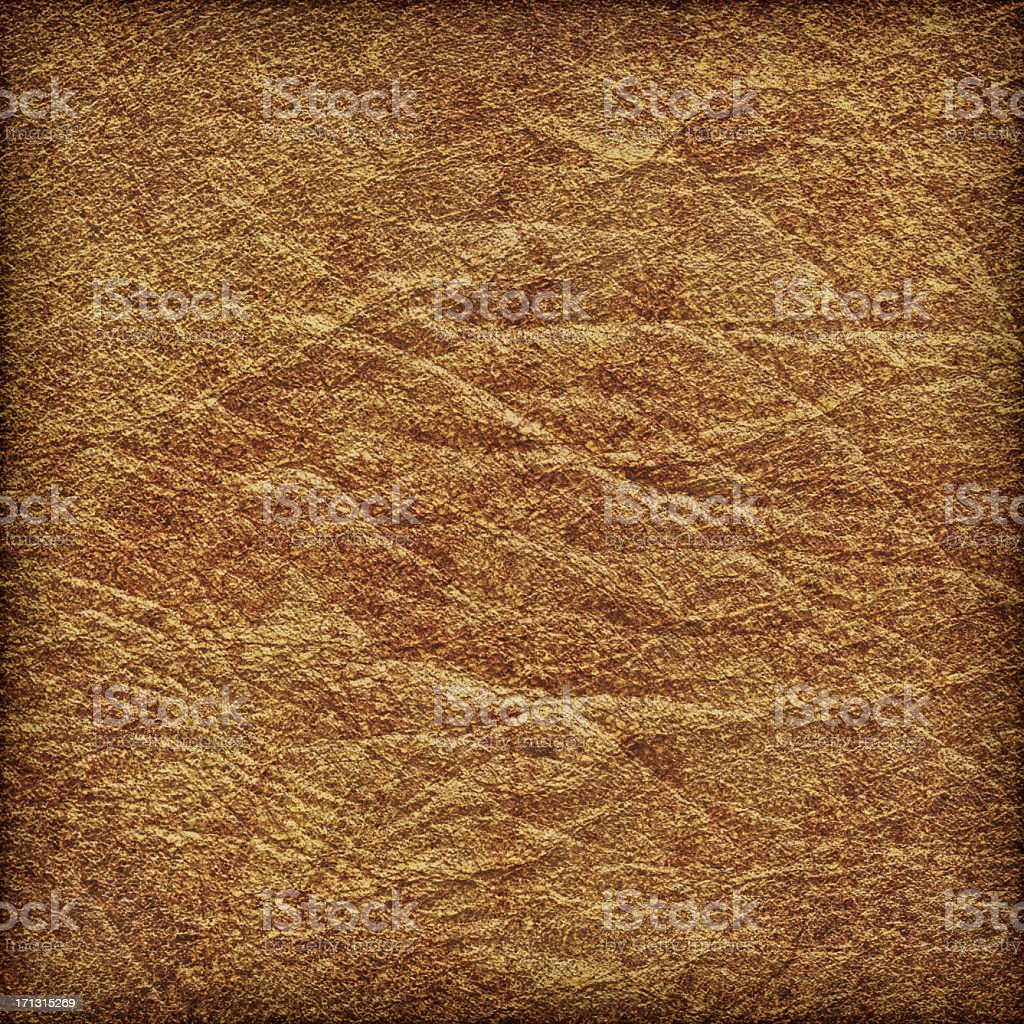 High Resolution Ancient Parchment Crumpled Vignette Grunge Texture royalty-free stock photo