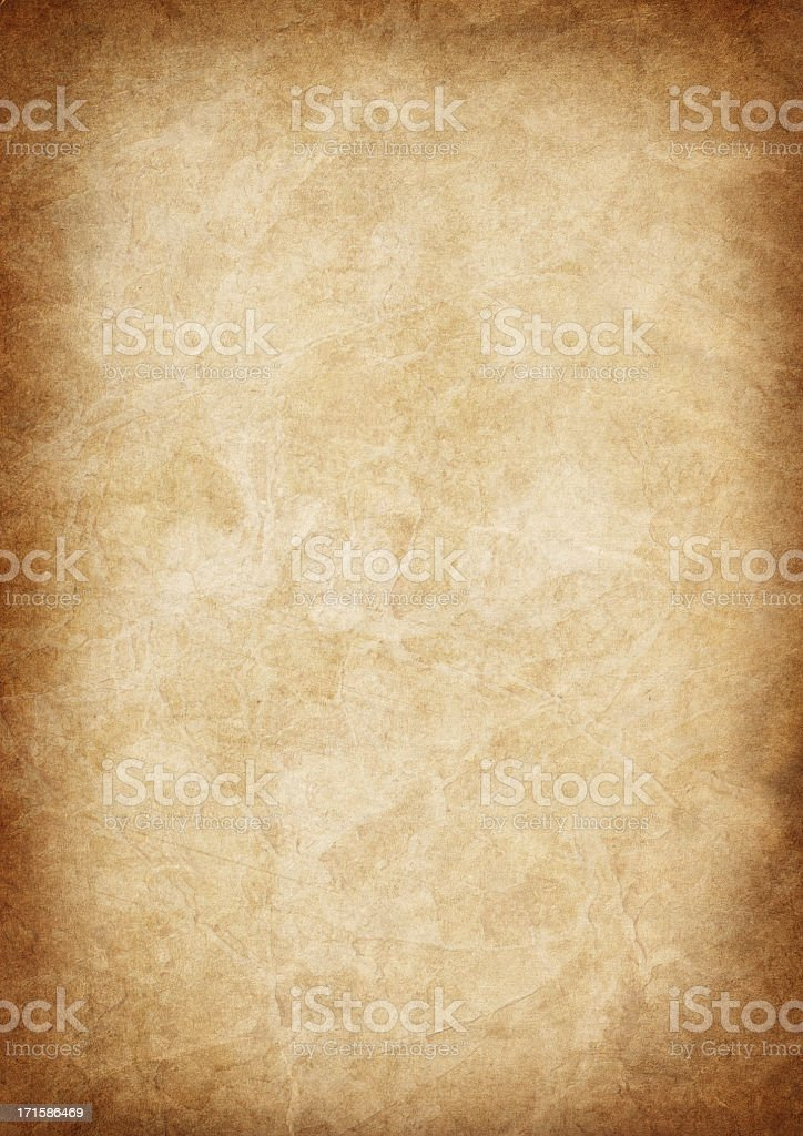 High Resolution Animal Skin Old Parchment Vignetted Grunge Texture stock photo