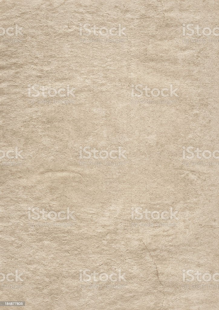 High Resolution Antique Beige Crumpled Paper Grunge Texture royalty-free stock photo