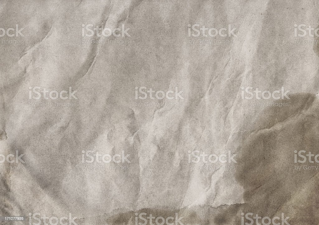 High Resolution Antique Beige Paper Crumpled Mottled Grunge Texture royalty-free stock photo