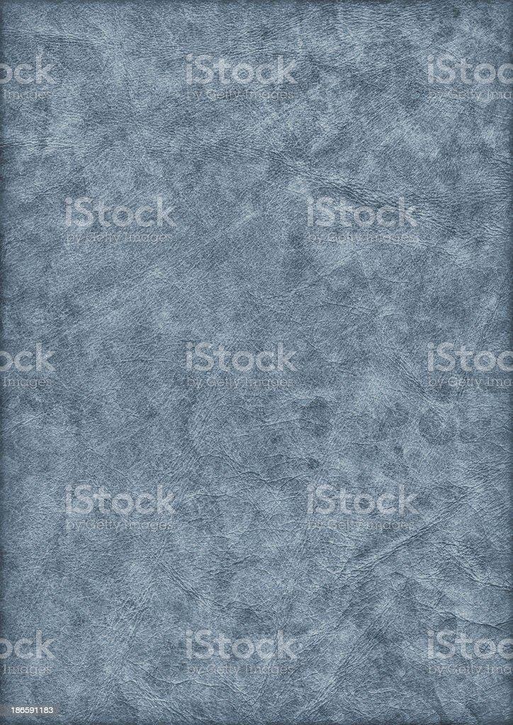 High Resolution Antique Blue Parchment Crumpled Mottled Vignette Grunge Texture stock photo