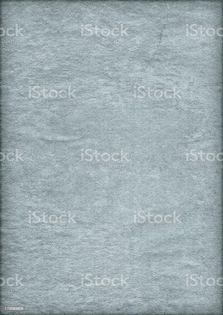 High Resolution Antique Blue Parchment Crumpled Vignette Grunge Texture stock photo