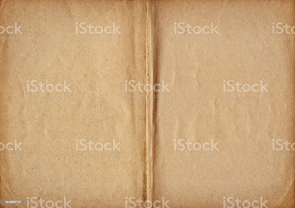 High Resolution Antique Book Blank Pages Vignette Grunge Texture royalty-free stock photo