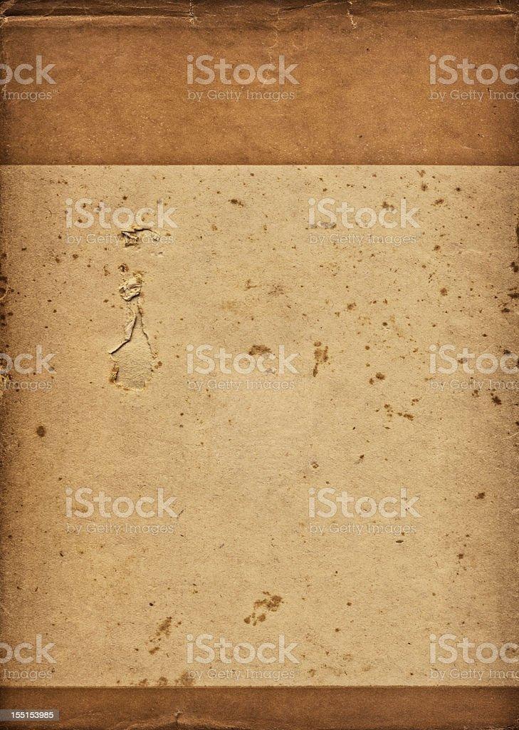 High Resolution Antique Book Jacket Mottled Torn Vignette Grunge Texture royalty-free stock photo