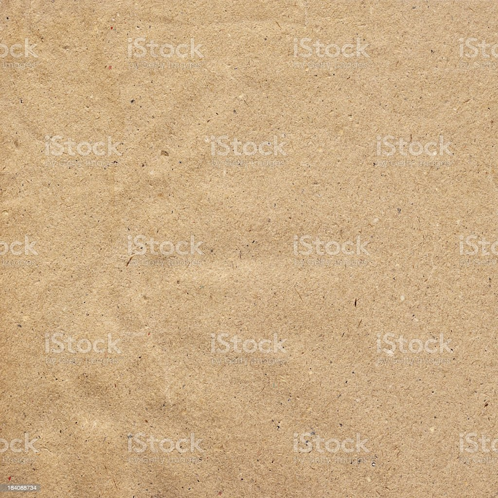 High Resolution Antique Brown Kraft Recycled Paper Crumpled Grunge Texture stock photo