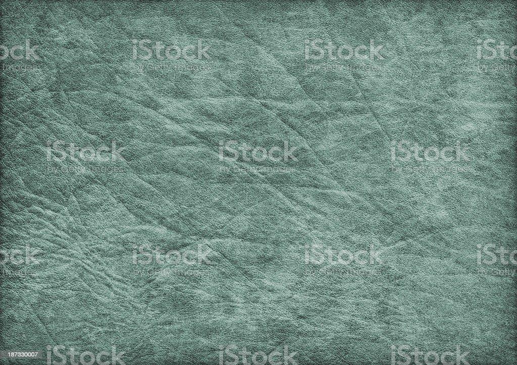 High Resolution Antique Emerald Green Parchment Crumpled Vignette Grunge Texture stock photo