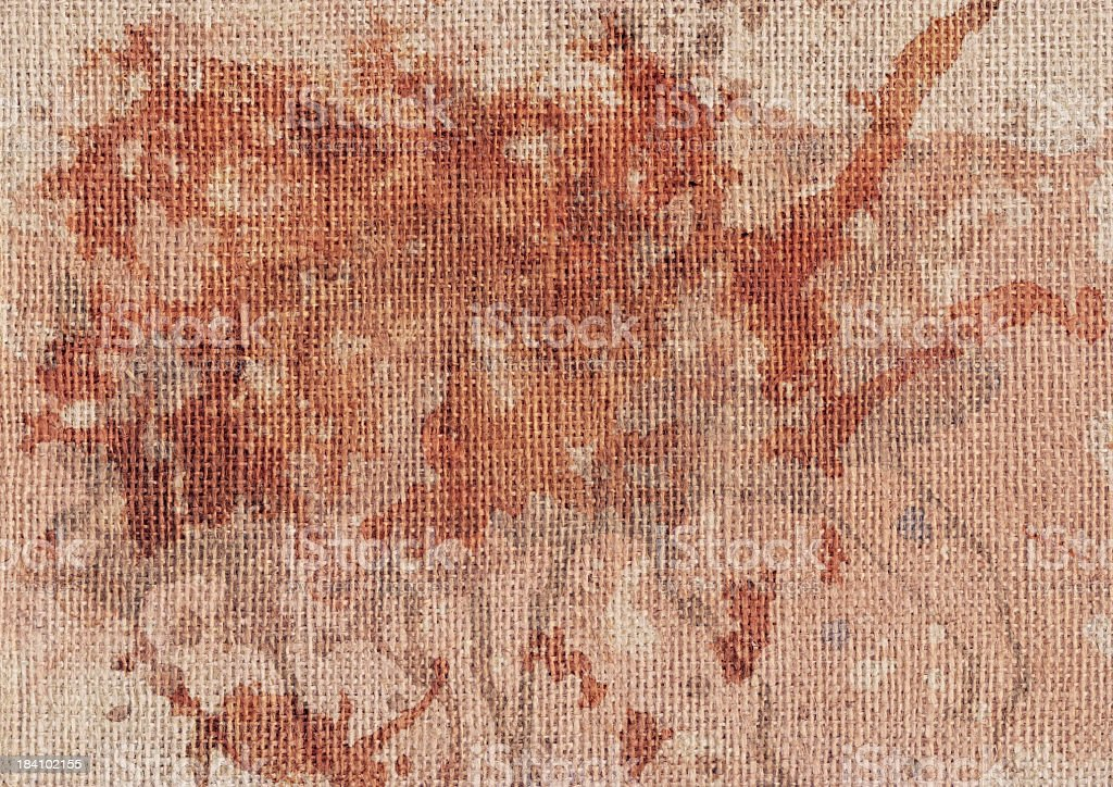 High Resolution Antique Jute Canvas Mottled Grunge Texture royalty-free stock photo