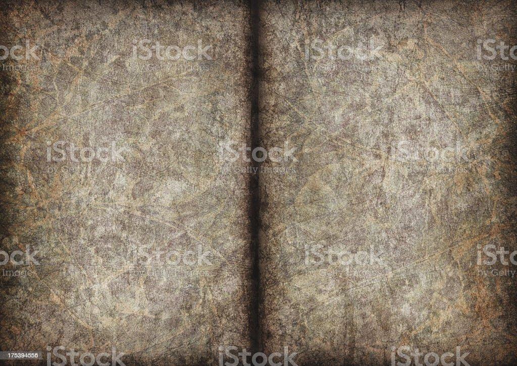 High Resolution Antique Manuscript Blank Parchment Pages Vignette Grunge Texture royalty-free stock photo