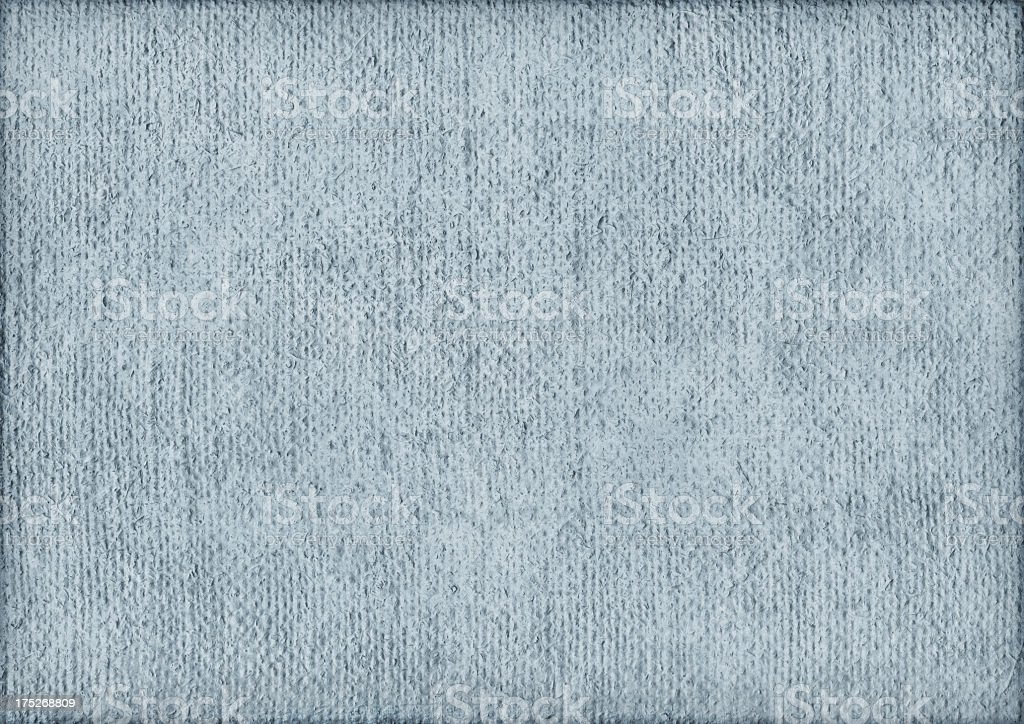 High Resolution Artist Primed Jute Canvas Coarse Blue Grunge Texture royalty-free stock photo