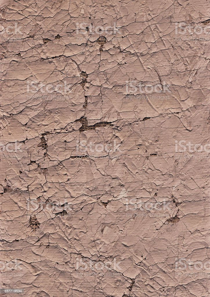 High Resolution Artist's Jute Canvas Primed Cracked Peeled Grunge Texture royalty-free stock photo
