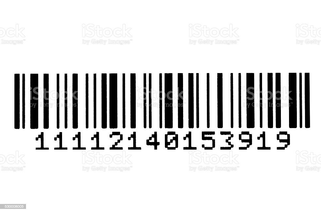 High resolution bar code isolated on white stock photo