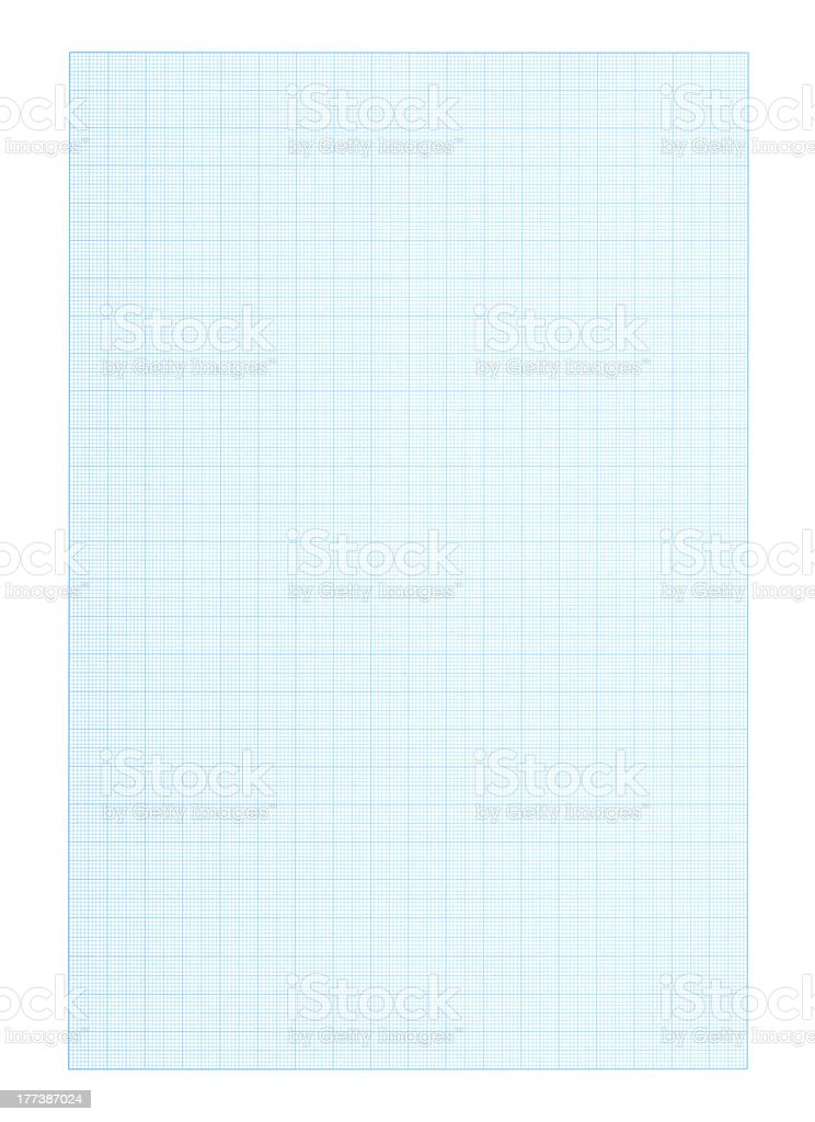 High resolution blank graph paper background royalty-free stock photo