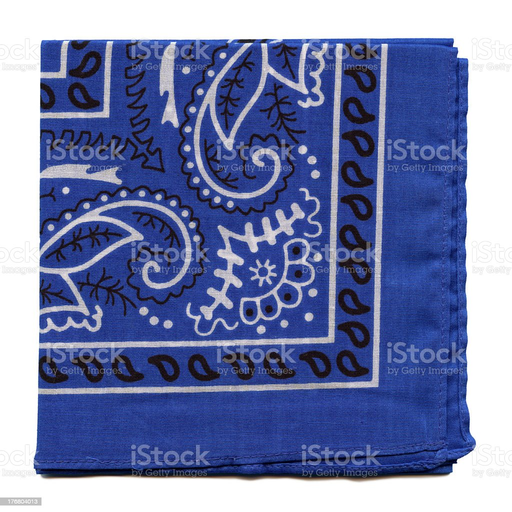 High Resolution Blue Bandana Fabric royalty-free stock photo