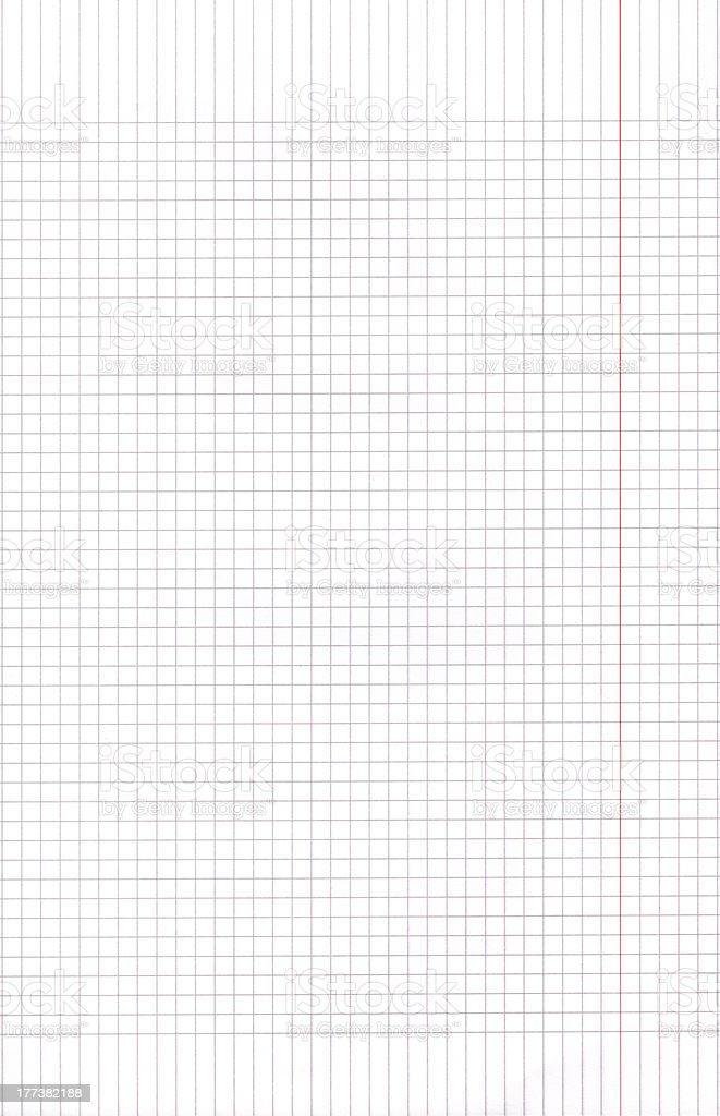 High resolution blue blank graph paper squares background royalty-free stock photo