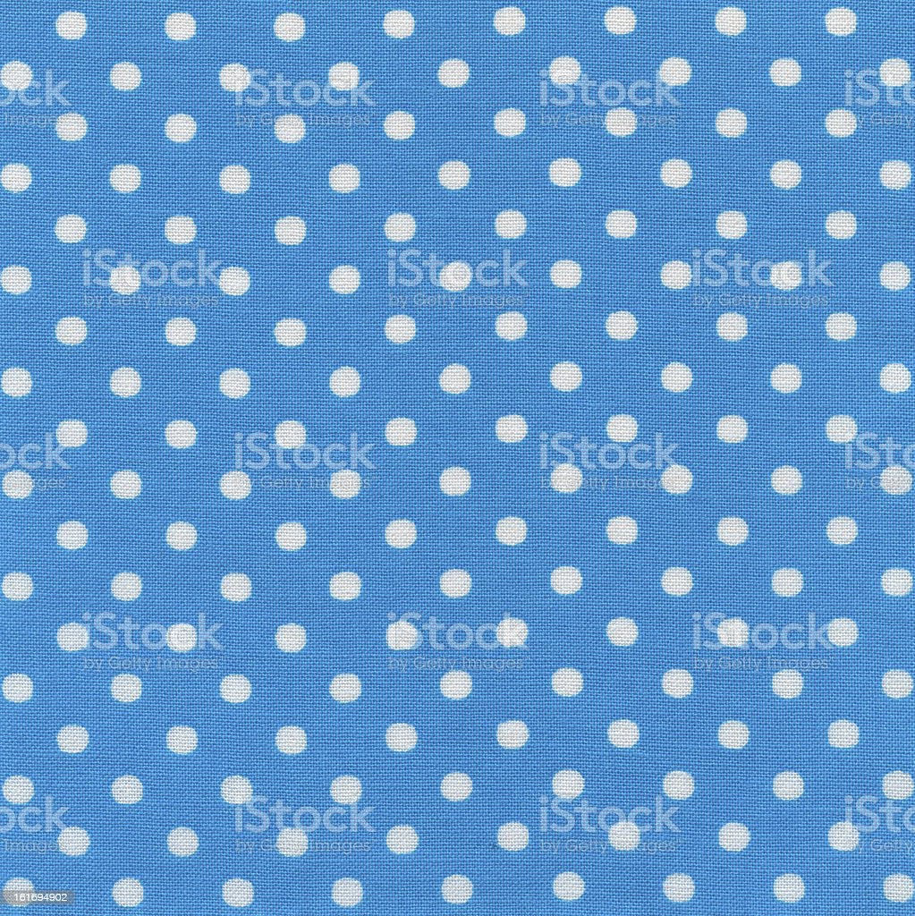 High Resolution Blue Fabric White Polka Dots Texture and Background royalty-free stock photo