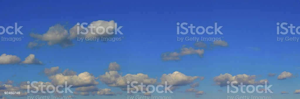 High resolution bright sky panorama #2 royalty-free stock photo